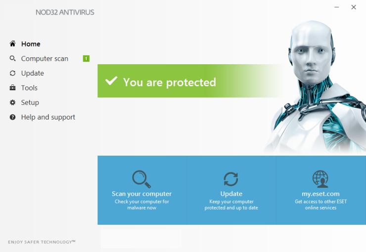 NOD32 Antivirus windows