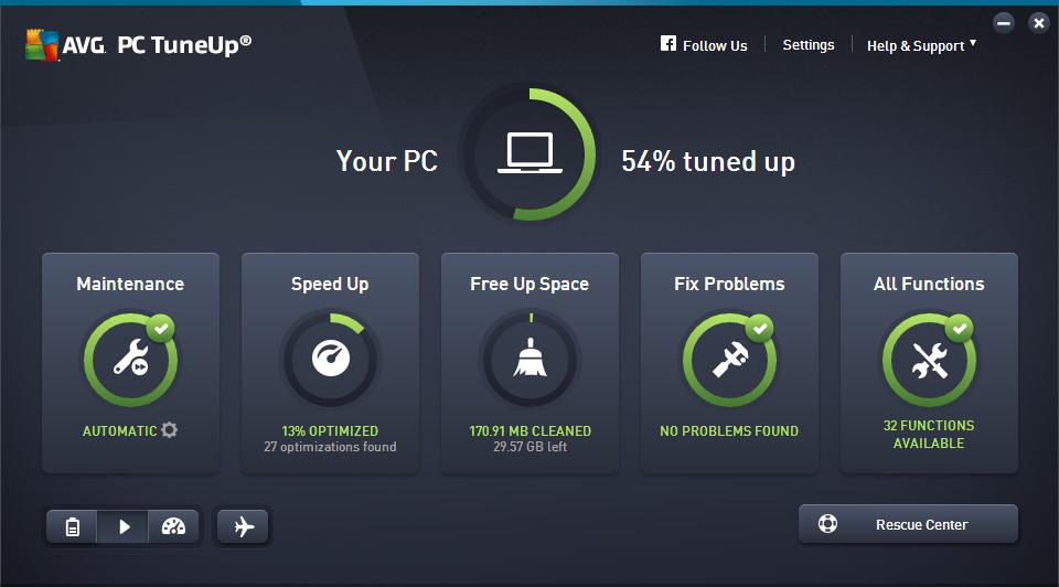 AVG PC TuneUp windows