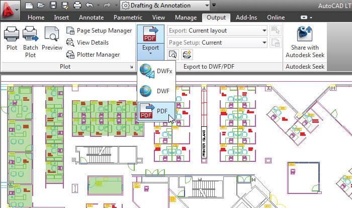 Autodesk AutoCAD LT windows