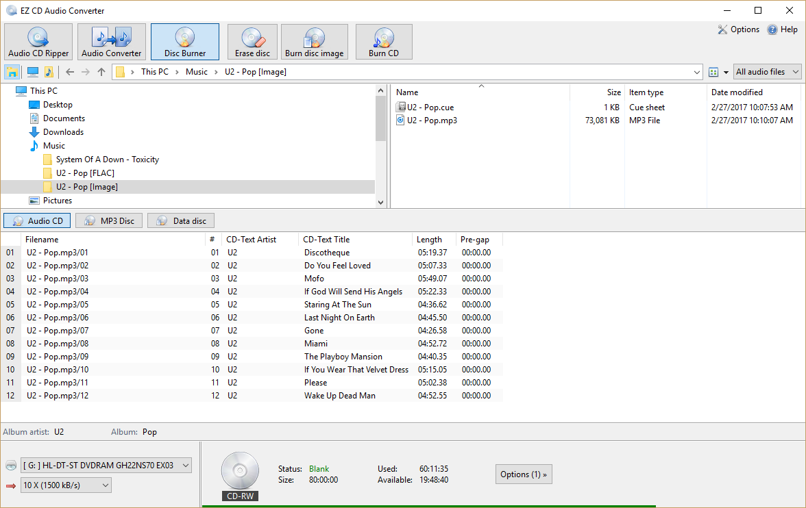 EZ CD Audio Converter windows