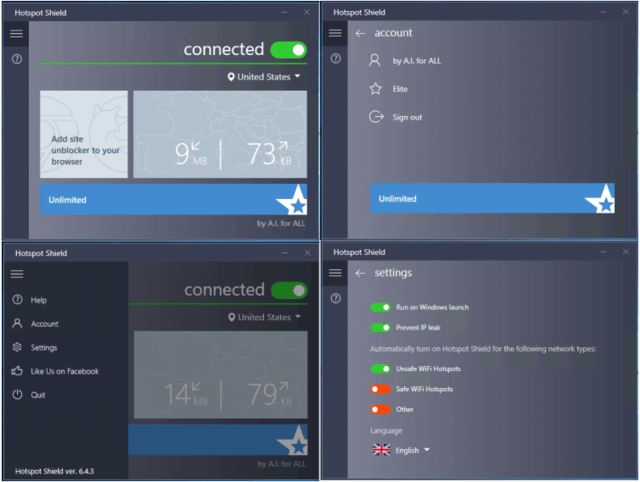 Hotspot Shield VPN windows