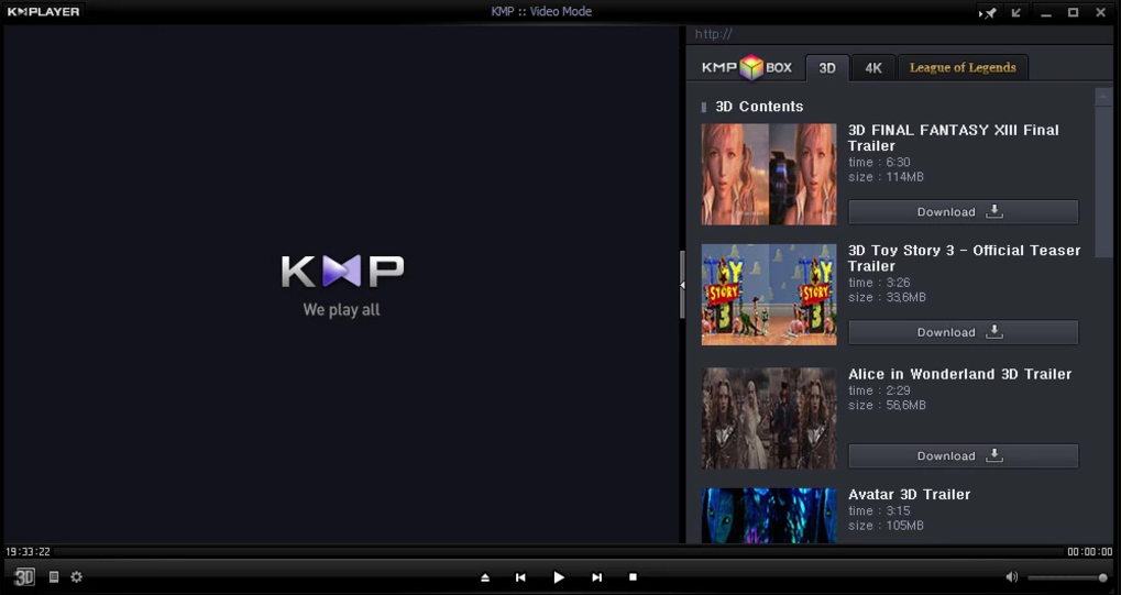 KMPlayer windows