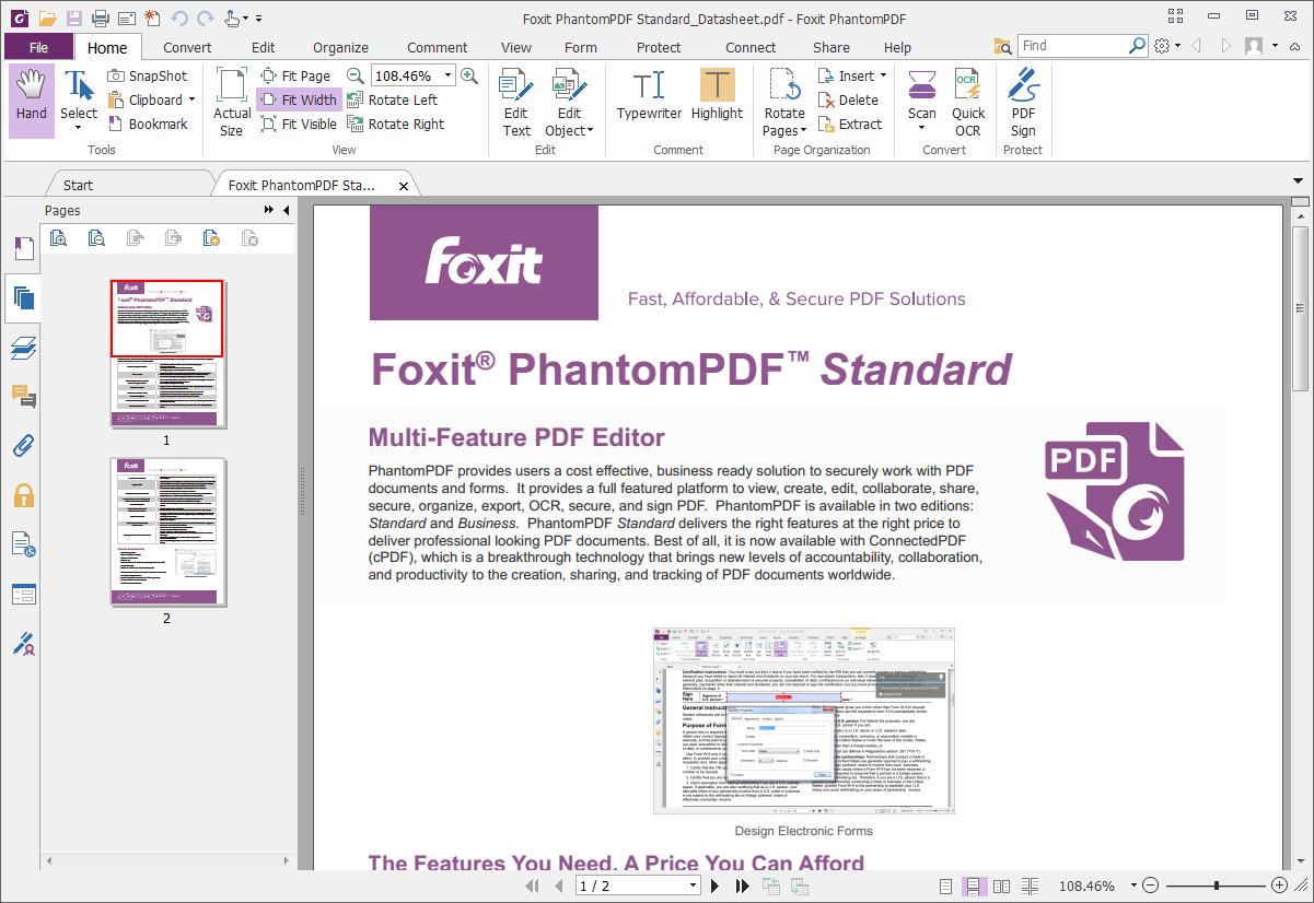 Foxit PhantomPDF windows