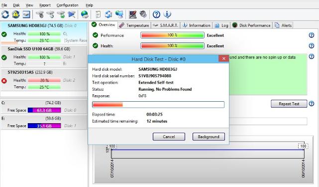 Hard Disk Sentinel Professional windows