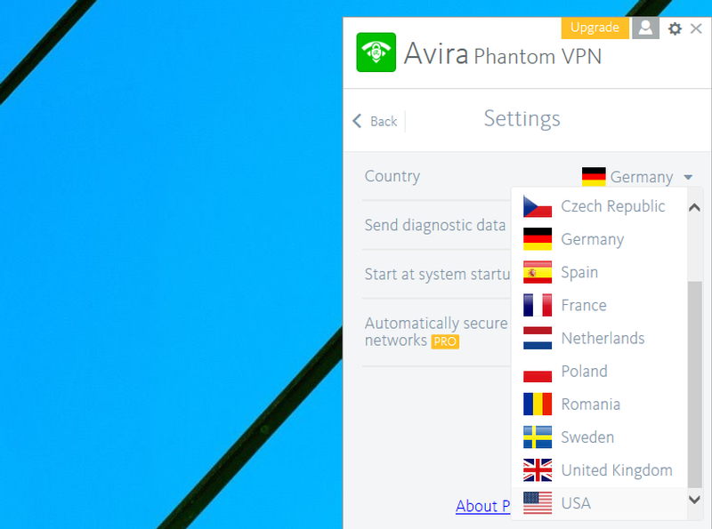 Avira Phantom VPN windows