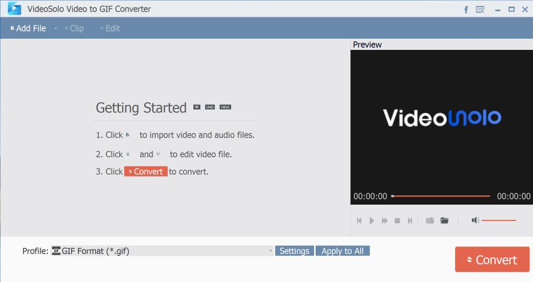 VideoSolo Video to GIF Converter windows