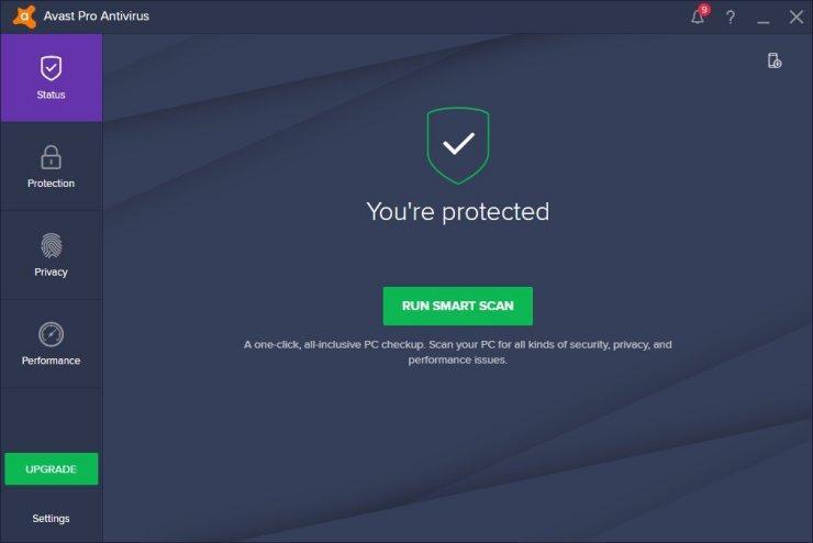Avast Pro Antivirus windows