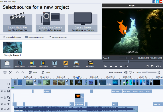 AVS Video Editor windows