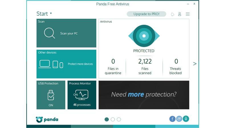 Panda Free Antivirus windows