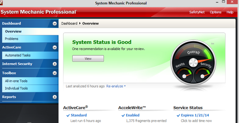 System Mechanic Pro windows