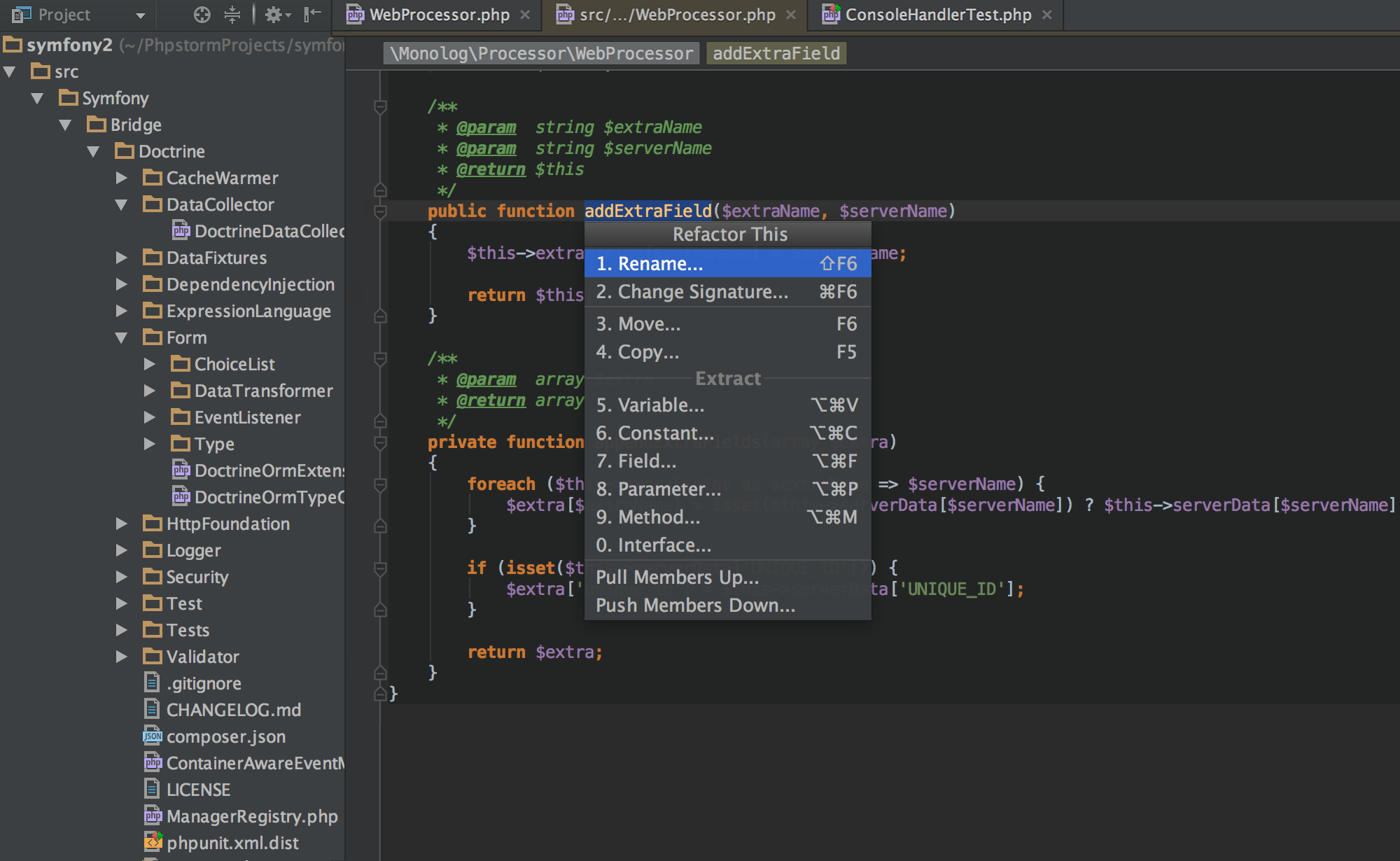 PhpStorm windows