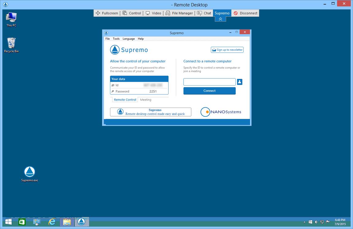 Supremo Remote Desktop windows