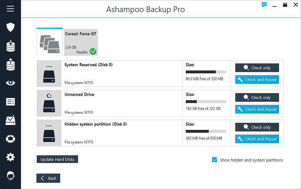 Ashampoo Backup Pro windows