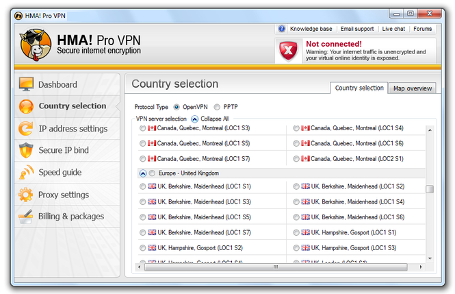 HMA Pro VPN windows