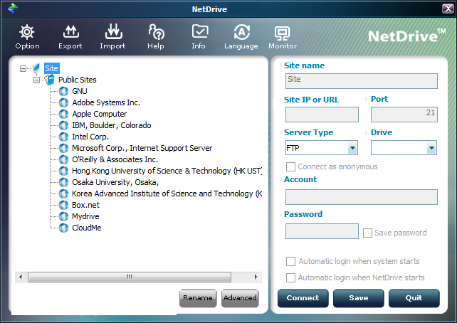 NetDrive windows