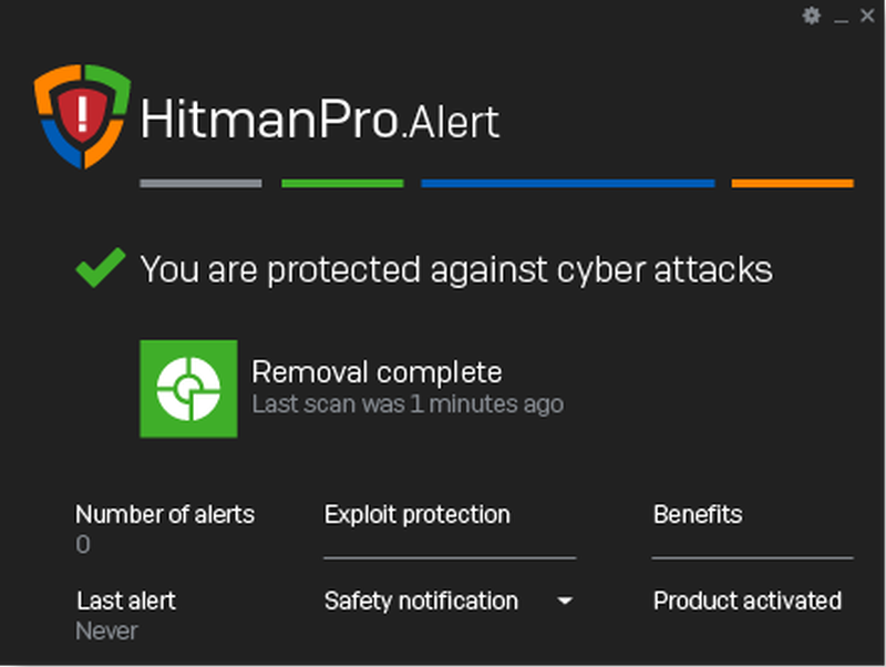 HitmanPro.Alert windows