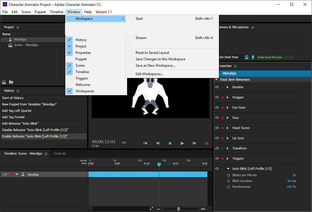 Adobe Character Animator CC windows