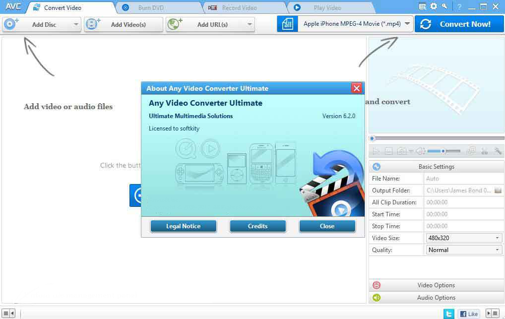 Any Video Converter windows