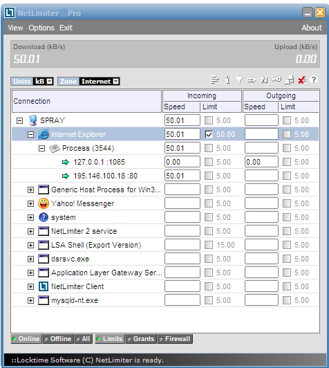 NetLimiter Pro windows