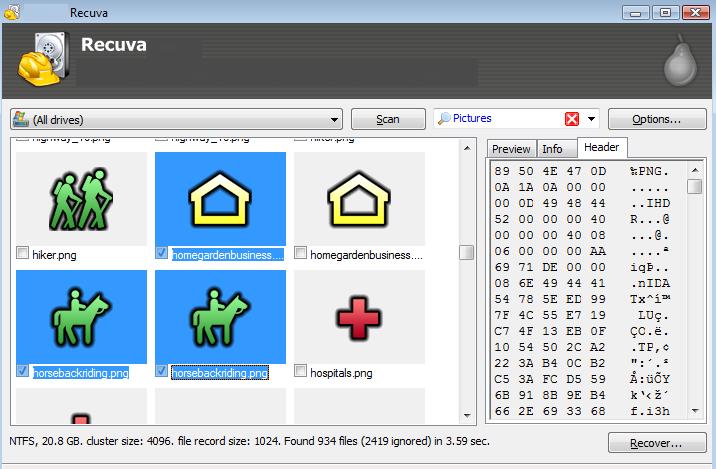 Recuva Pro latest version