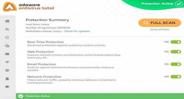 Adware Antivirus Total windows