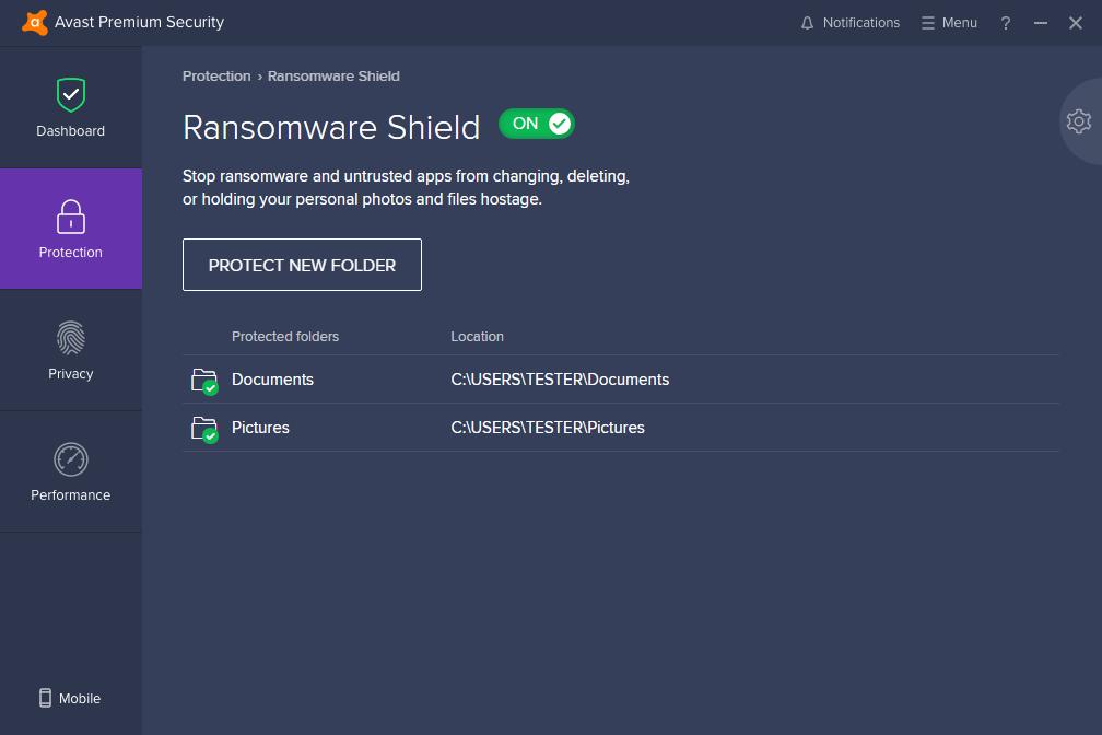 Avast Premium Security windows