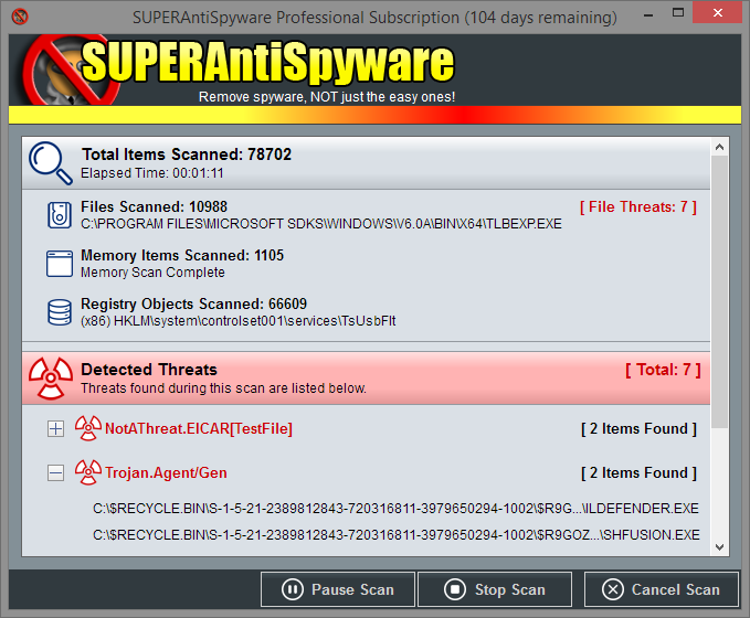 SUPERAntiSpyware windows
